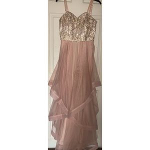 Pink & Gold Prom/Homecoming Dress